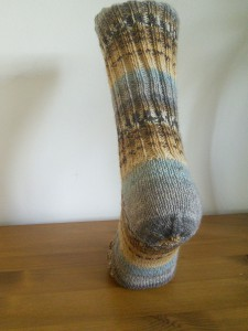 Sweet and Spicy sock with Balbriggan heel ©Rachel Gibbs