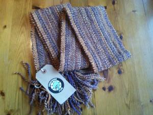 Hand woven scarf from Porpoise Fur ©Rachel Gibbs