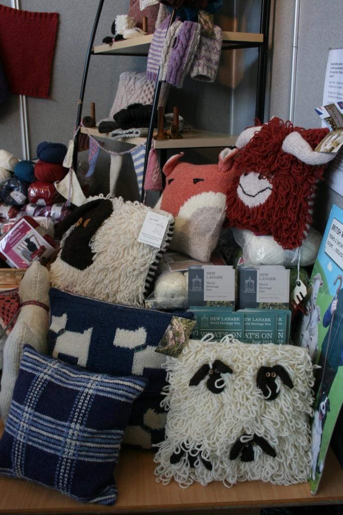 Woolly cushions  ©Rachel Gibbs