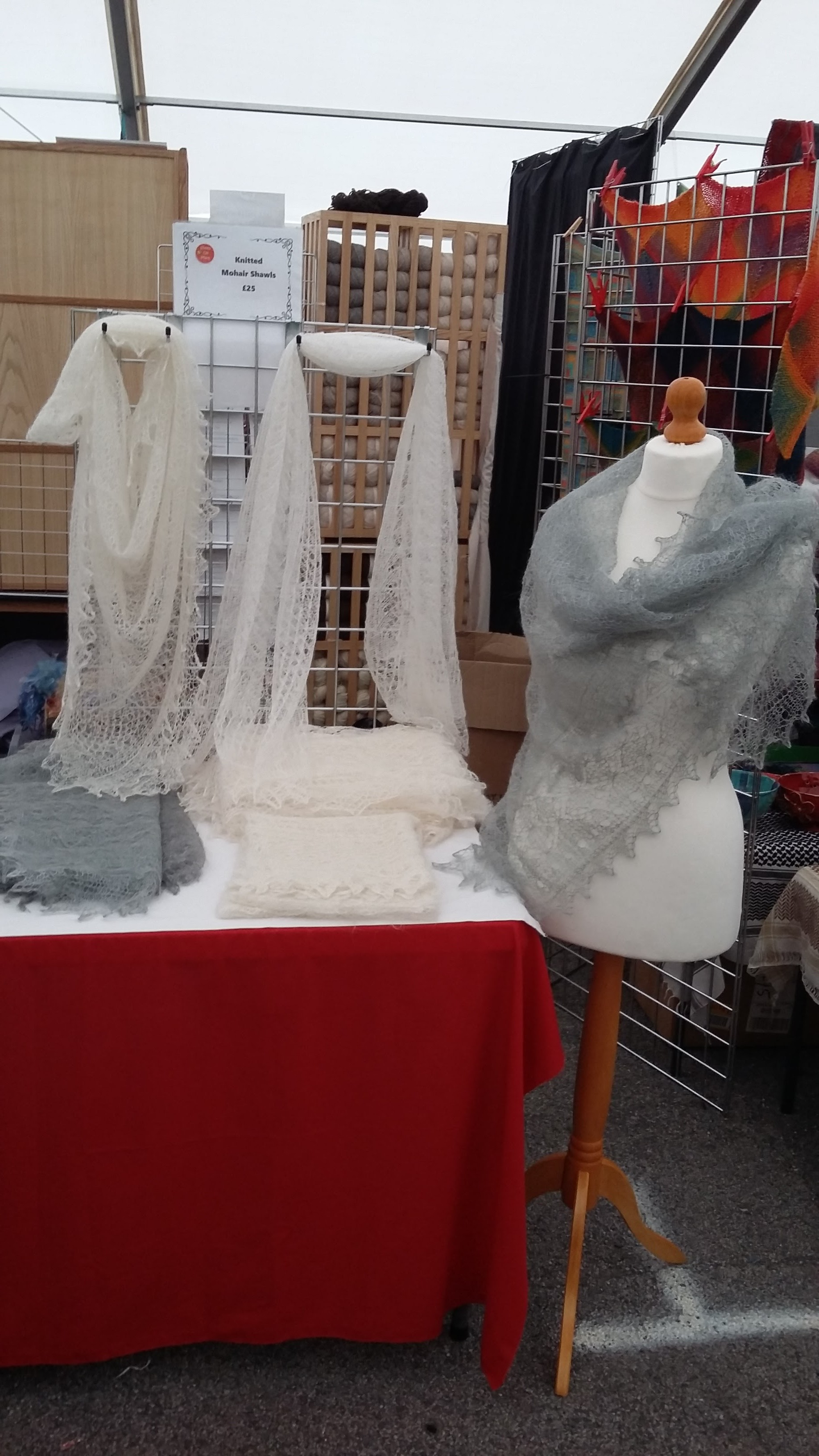Some gorgeous lace shawls
