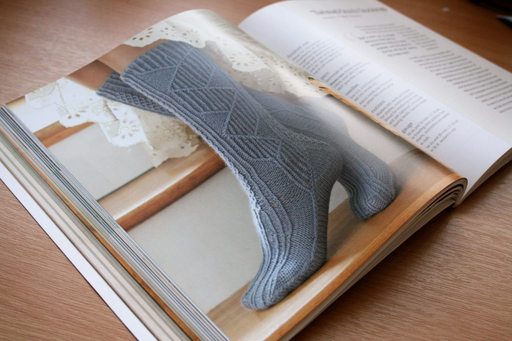 Twisted-Stitch Stockings by Meg Swansen